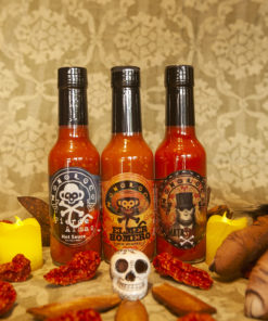 Three super hot sauces